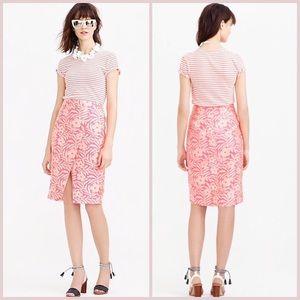 NWT J.CREW -retail crossover jacquard pencil skirt